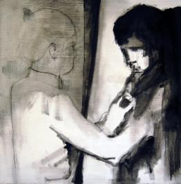 untitled | ink on wood panel