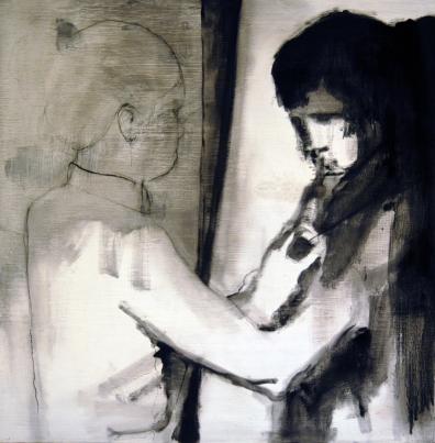 untitled   ink on wood panel